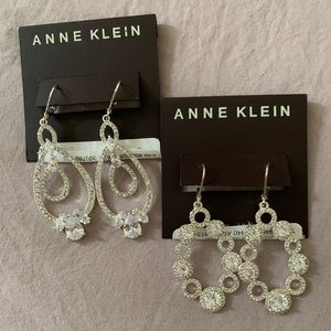 Anne Klein 2 Pair of Stunning Drop Earrings